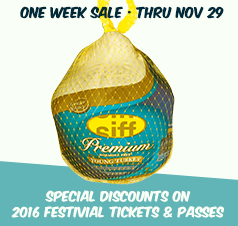 Thanksgiving Sale on SIFF 2016 Passes and Tickets
