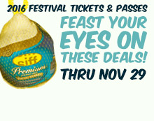 Feast your eyes on these deals! Sale on SIFF 2016 tickets and passes