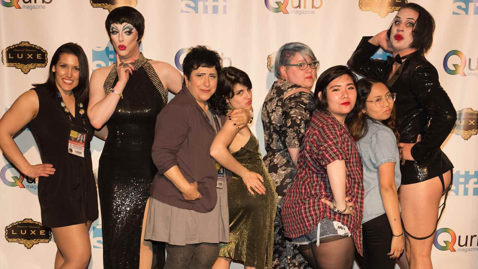 SIFF Staff with Drag Queens