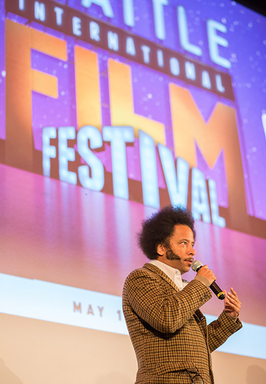 Boots Riley on stage