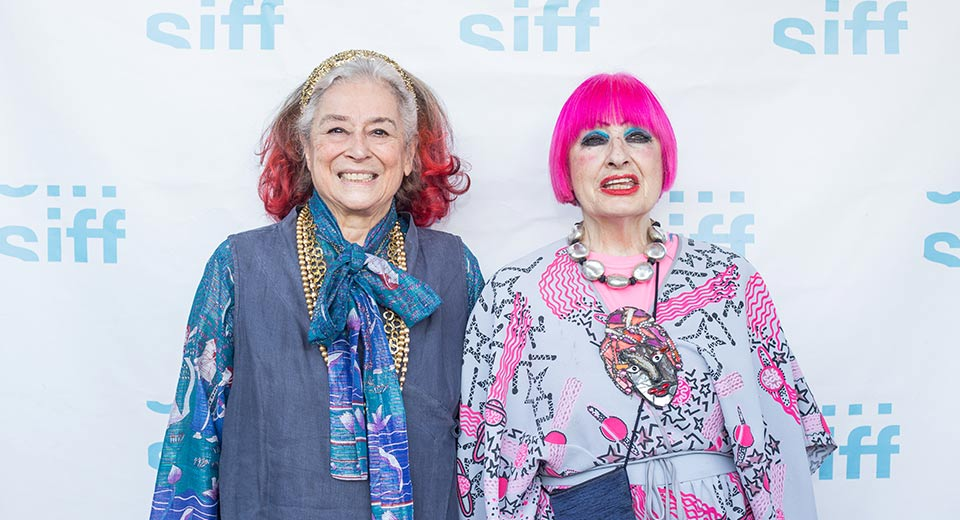 Zandra Rhodes and her Best Friend