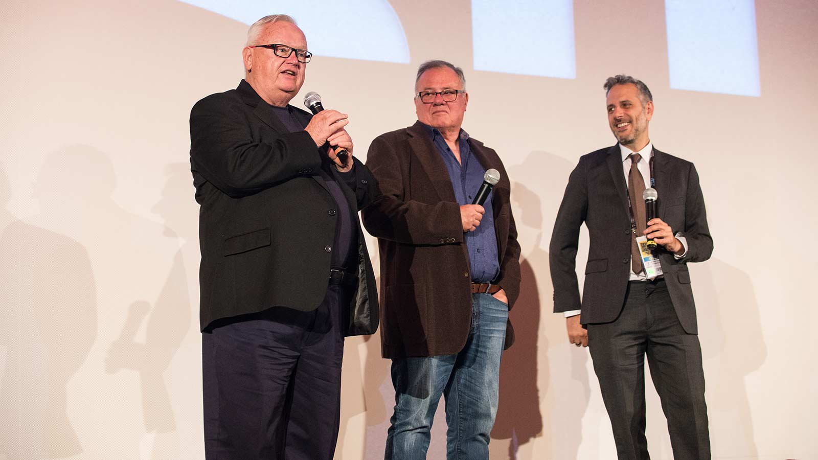 Schwarz and Two Interviewers On Stage