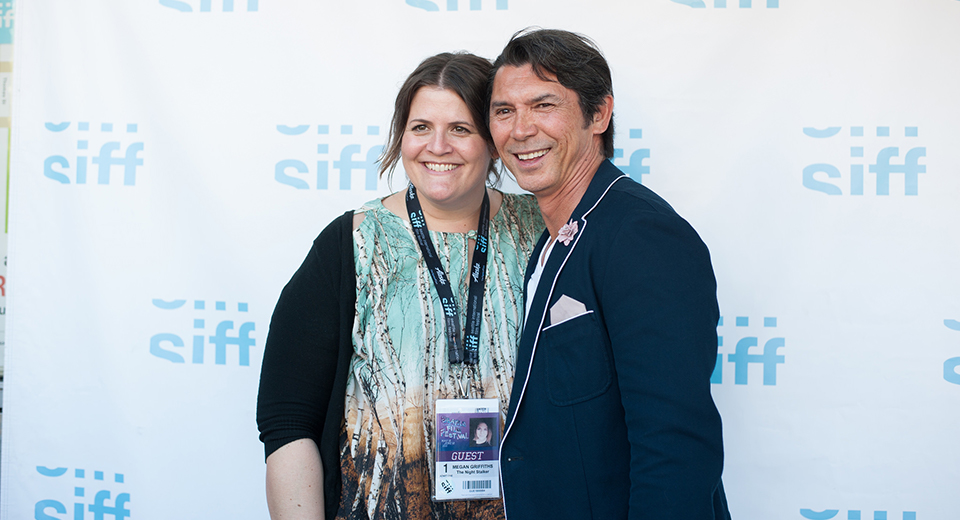 Megan Griffiths and Lou Diamond Phillips