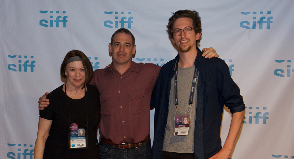 From left to right: SIFF Programmer Maryna Ajaja, Director David Novack, and Associate Producer Dylan Hansen-Fliedner
