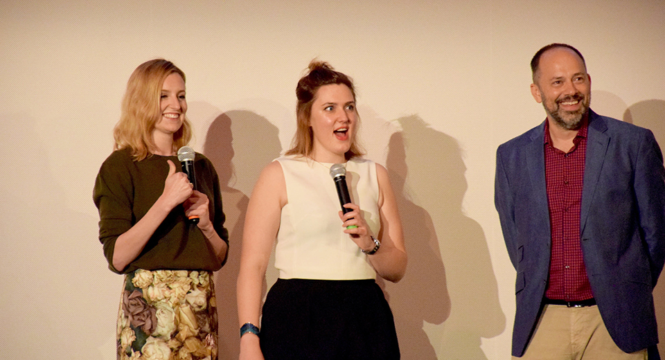 From left to right: actress Laura Carmichael, director Chanya Button, and SIFF Chief Curator & Festival Director Carl Spence